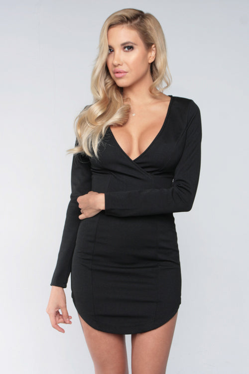 SWEET LIKE VENOM DRESS - BLACK