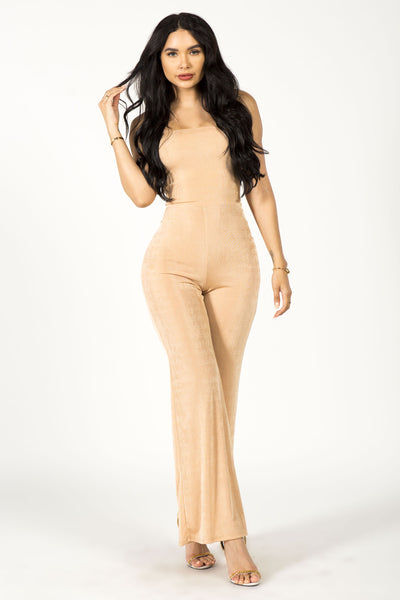 SIN CITY JUMPSUIT - NUDE