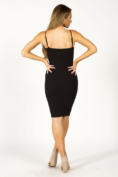 GIRL BOSS CORSET DRESS - BLACK