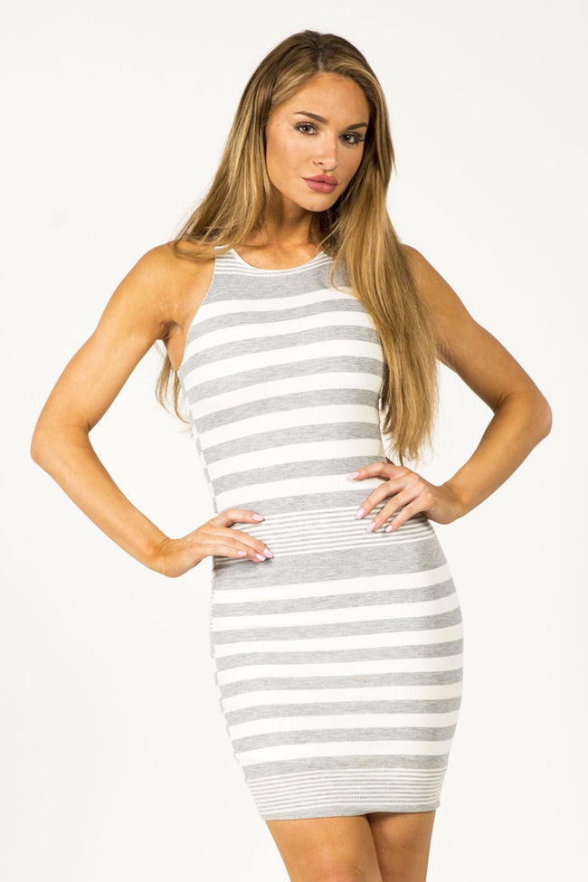 READ BETWEEN THE LINES MIDI DRESS