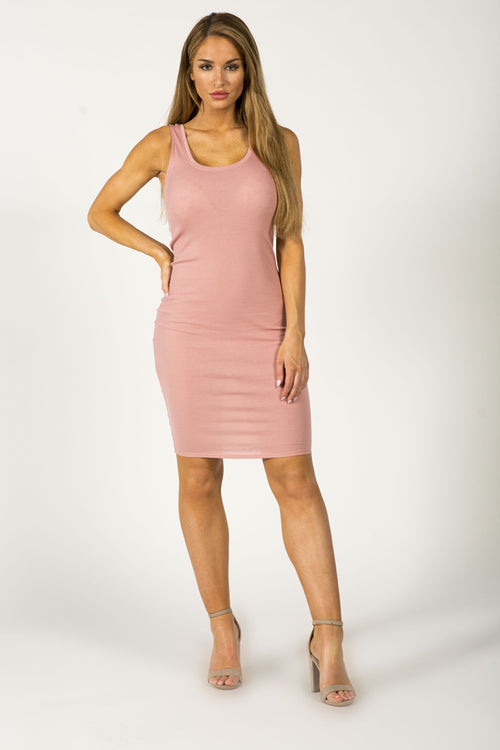 HEARTBREAKER MIDI DRESS - BLUSH