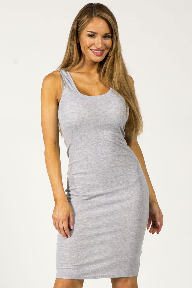HEARTBREAKER MIDI DRESS - GRAY