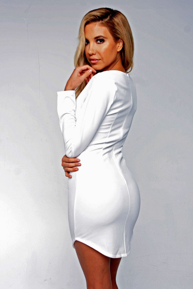 SWEET LIKE VENOM DRESS - WHITE