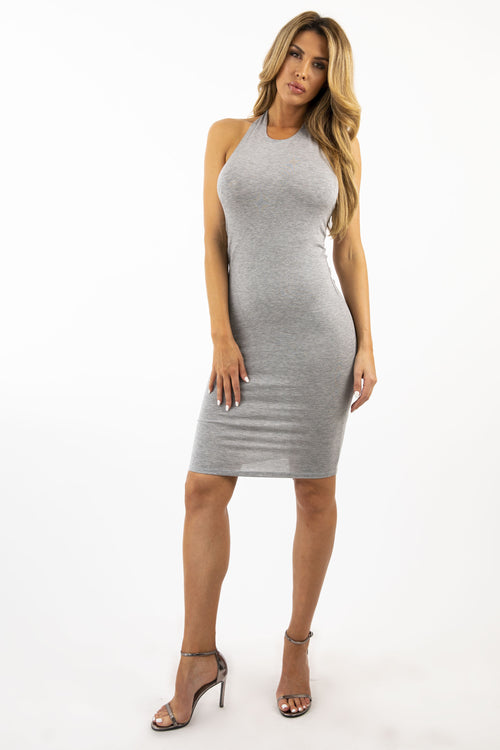 BACK TO BACK DRESS - GRAY