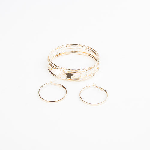 SKY FULL OF STARS EARRING AND BANGLE SET
