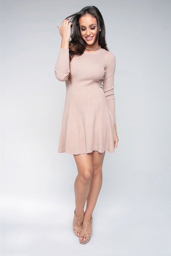 MAKE ME BLUSH DRESS - TAN