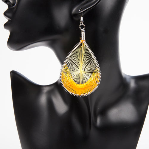 HANGING BY A THREAD EARRINGS - ORANGE