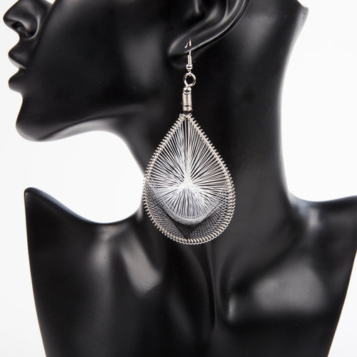 HANGING BY A THREAD EARRINGS - WHITE