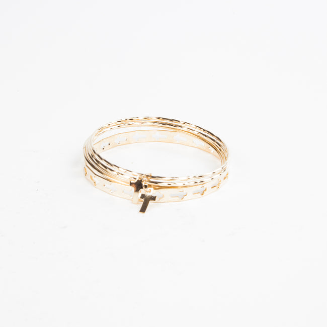 CROSS THAT LINE EARRING AND BANGLE SET