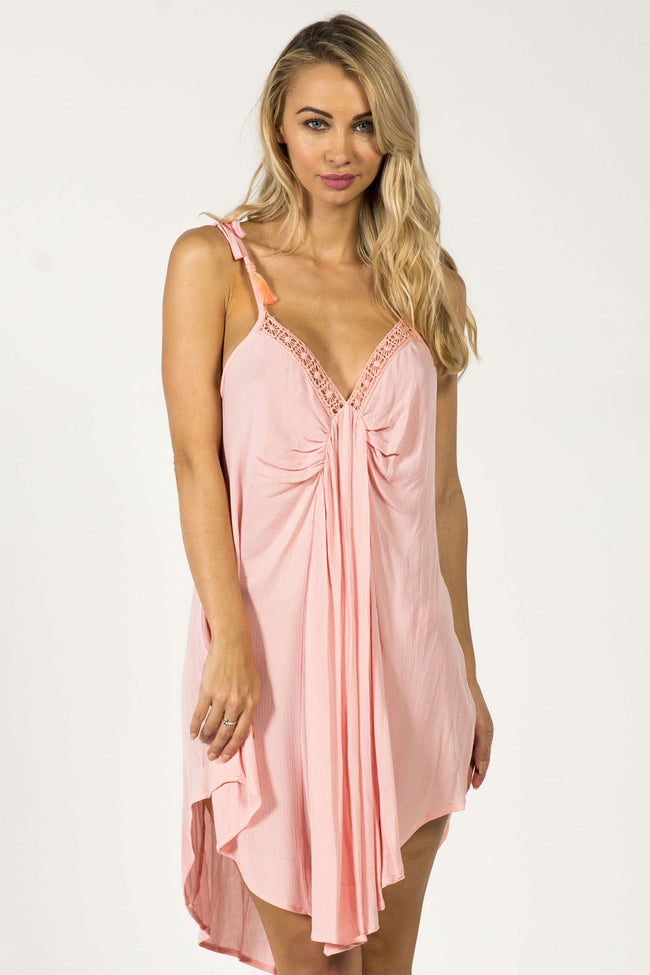 EASY BREEZY SUMMER DRESS - PEACH