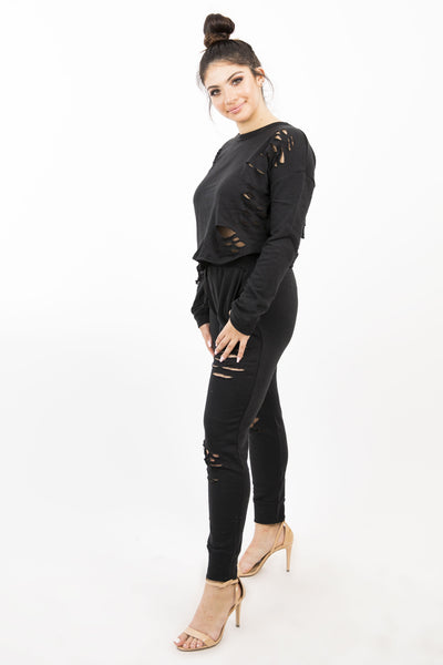 EMMA PULL OVER SWEATER - BLACK