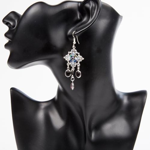 DROP IT LIKE IT'S HOT EARRINGS - BLACK