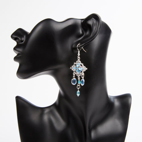 DROP IT LIKE IT'S HOT EARRINGS - BLUE