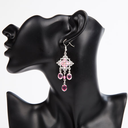 CHAINS FROM MY HEART EARRINGS - CHROME
