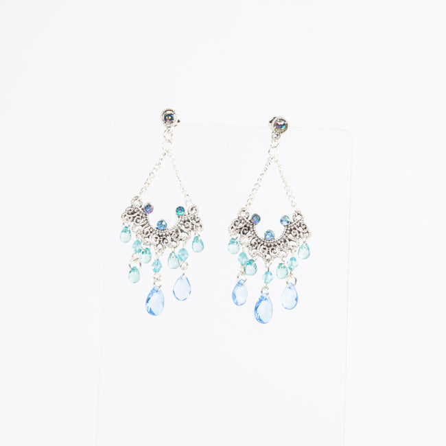 DROP A GEM ON 'EM EARRINGS - BLUE