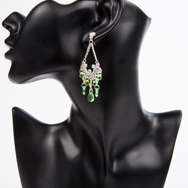 DROP A GEM ON 'EM EARRINGS - GREEN