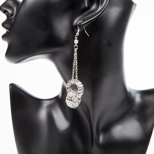 CHAINS FROM MY HEART EARRINGS - SILVER