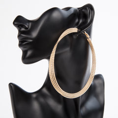 TWIST AND SHOUT HOOPS - GOLD