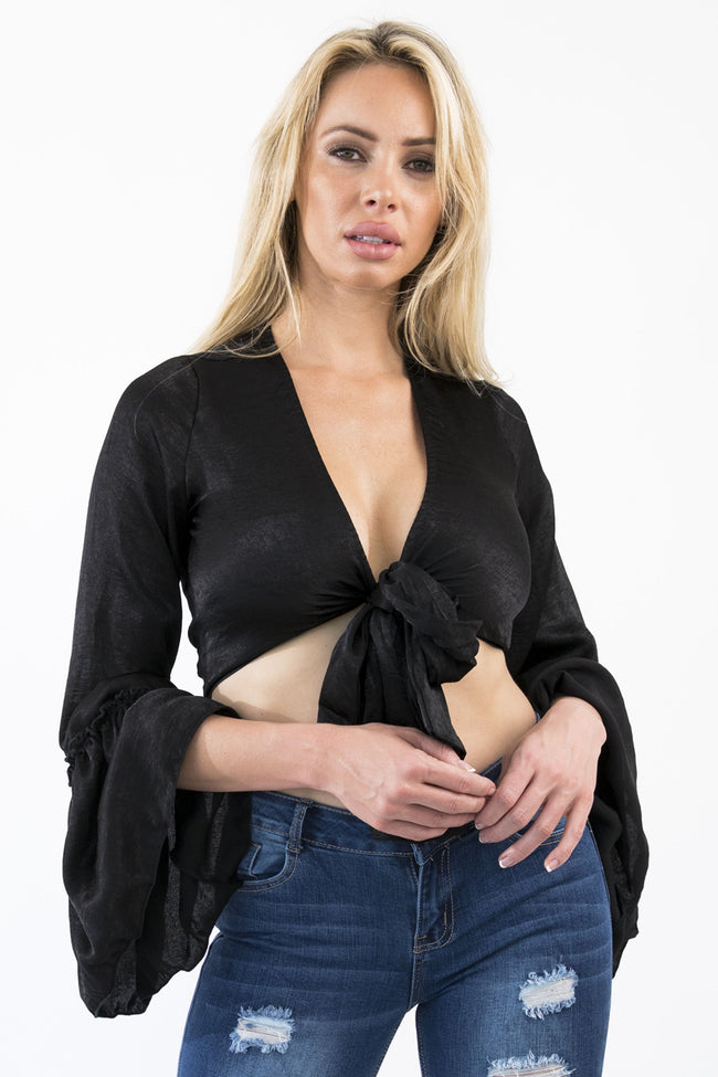 ALLIE CROP TOP - BLACK