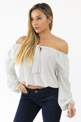 ALL FOR ROMANCE SHOULDER TOP