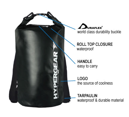 HYPERGEARAdventure Dry Bag 40L, hiking, camping, outdoor, adventure, activity
