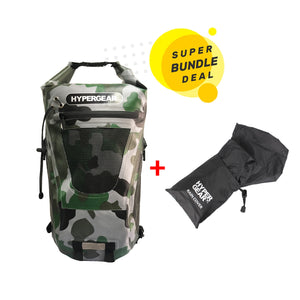 Dry Pac Tough 20L + Rain Cover Black