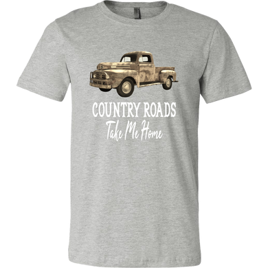 de417b007b3 Country Roads Take Me Home Rusty Red Truck Funny Graphic Tee Shirt