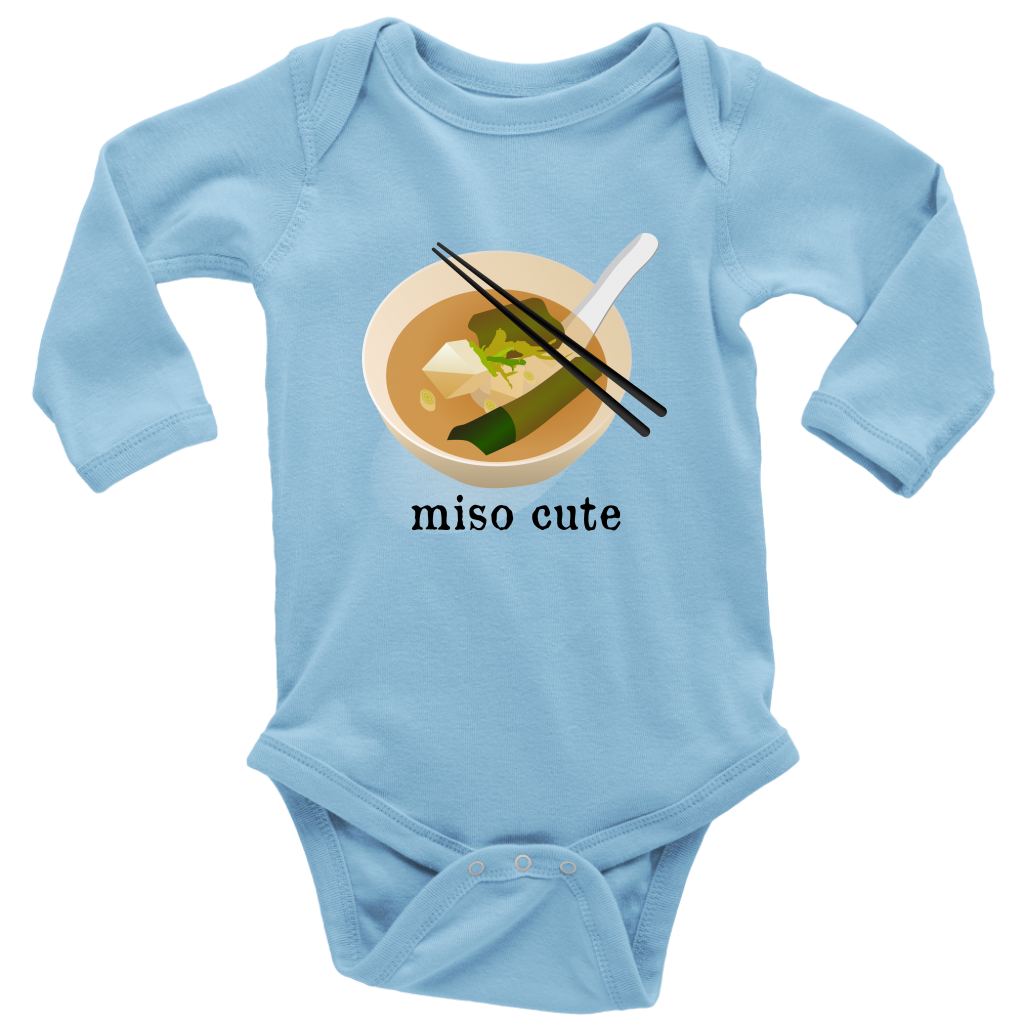 a134ae8402 Miso Cute Funny Japanese Sushi Soup Baby Onesie Bodysuit – My Sassy ...