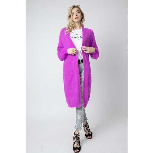 All The Feels Magenta Oversized Cardigan - Love Her Luxe Boutique