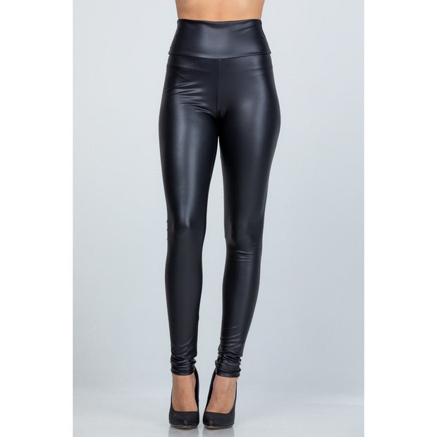 Faux Leather High Waist Leggings - Love Her Luxe Boutique