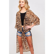 Wild Thing Sheer Leopard Print Kimono - Love Her Luxe Boutique