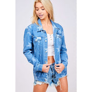 Starry Eyed Surprise Boyfriend Denim Jacket - Love Her Luxe Boutique