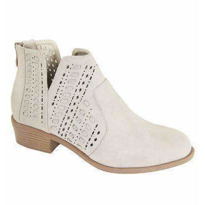 Essie Nude Sand Cutout Detail Ankle Boots - Love Her Luxe Boutique