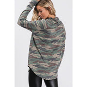 Turtleneck Long Sleeve Camo Top - Love Her Luxe Boutique