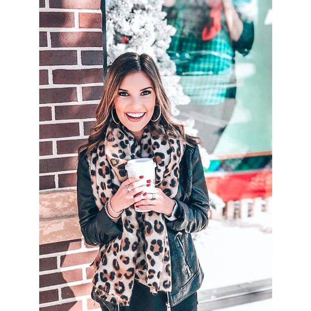 Leopard Print Lightweight Scarf - Love Her Luxe Boutique
