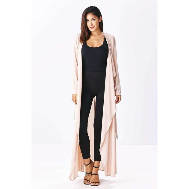 Luna Tan Belted Duster Cardigan - Love Her Luxe Boutique