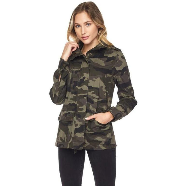 Jaq Camo Army Zip Jacket - Love Her Luxe Boutique