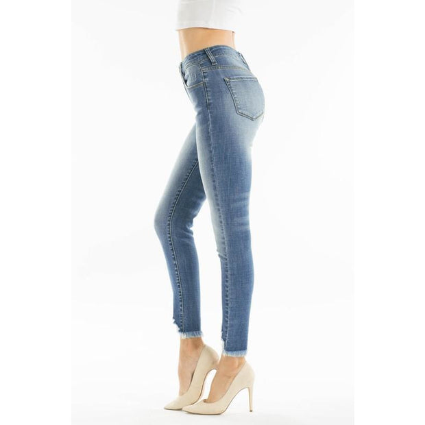 Kancan Light Distressed Ankle Skinnies - Love Her Luxe Boutique
