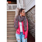 City Nights Multi Color Tweed Fringe Scarf - Love Her Luxe Boutique