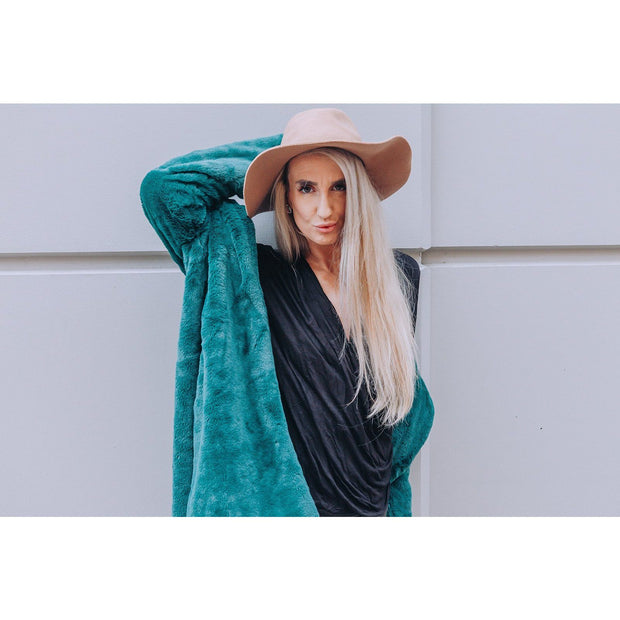Buddy Love Diana Emerald Faux Fur Coat - Love Her Luxe Boutique