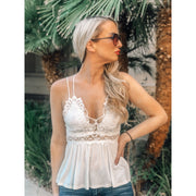 This Love Crochet Lace Bralette Top - White - Love Her Luxe Boutique