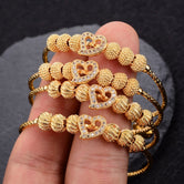 Gold Colored 4 Pcs Set Women's Bracelet