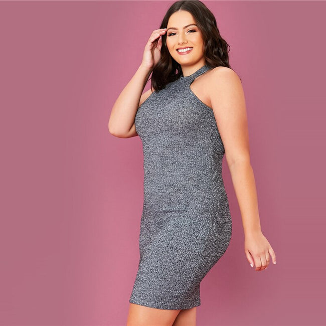 Rib-Knit Bodycon Dress