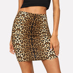 Leopard Print Bodycon Mini Skirt