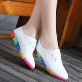 Breathable Genuine Leather Rainbow Shoes