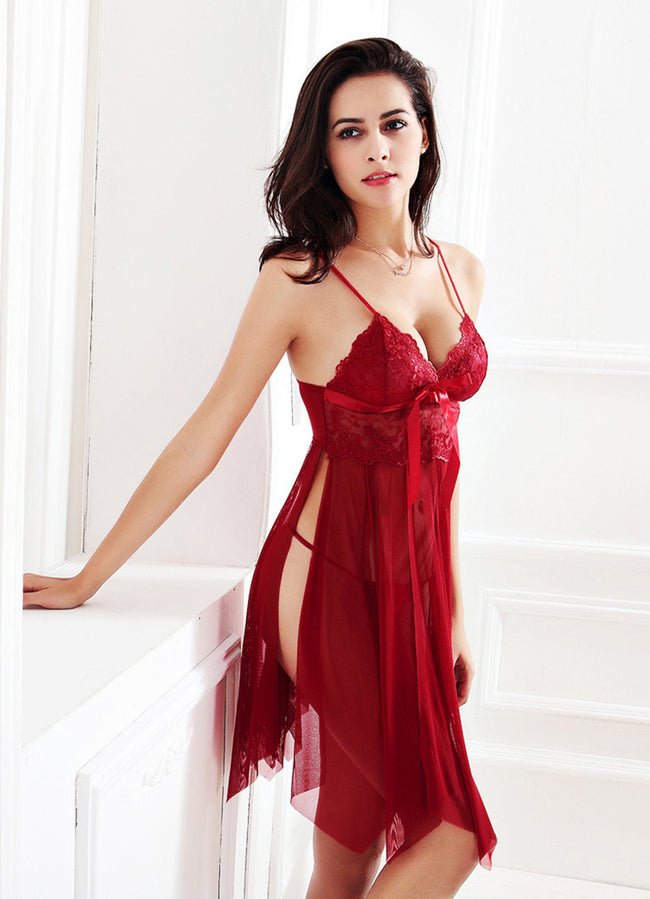 Women Sexy Lace Nightgown