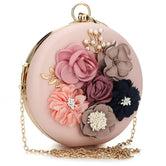Floral Top-Handle Shoulder Bag