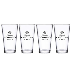 Código Pint Glasses, Set of 4