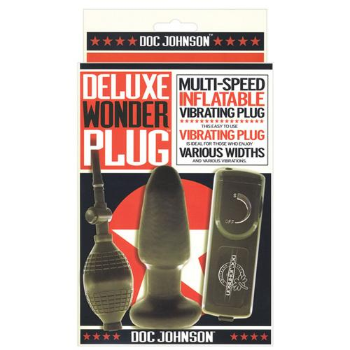 Deluxe Wonder Plug Inflatable Vibrating Butt Plug - Multi Speed