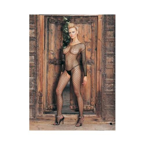 Lycra Ringo Hole Long Sleeves Bodystocking